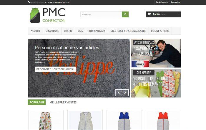 Création site Internet E-commerce - Prestashop - pmc-confection