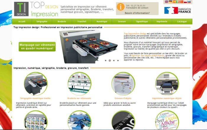 Création site Internet - Imprimeur