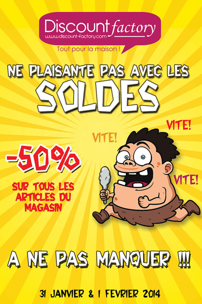 Flyer soldes Discount-factory