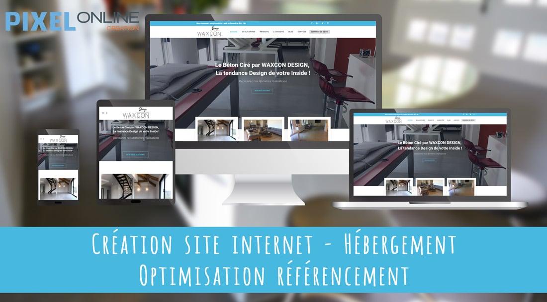 Création du site Internet vitrine et référencement : WaxconDesign