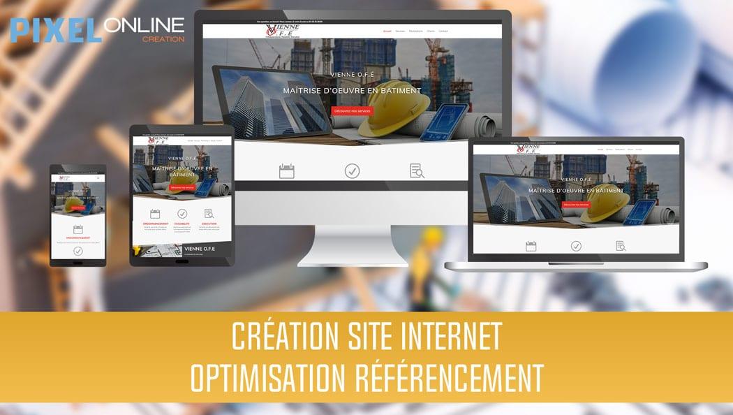 Création du site Internet vitrine et référencement : Vienne O.F.E.