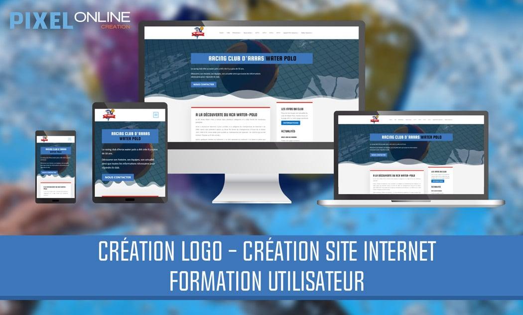 Création de site Internet, logo et formation – RC Arras Water-Polo
