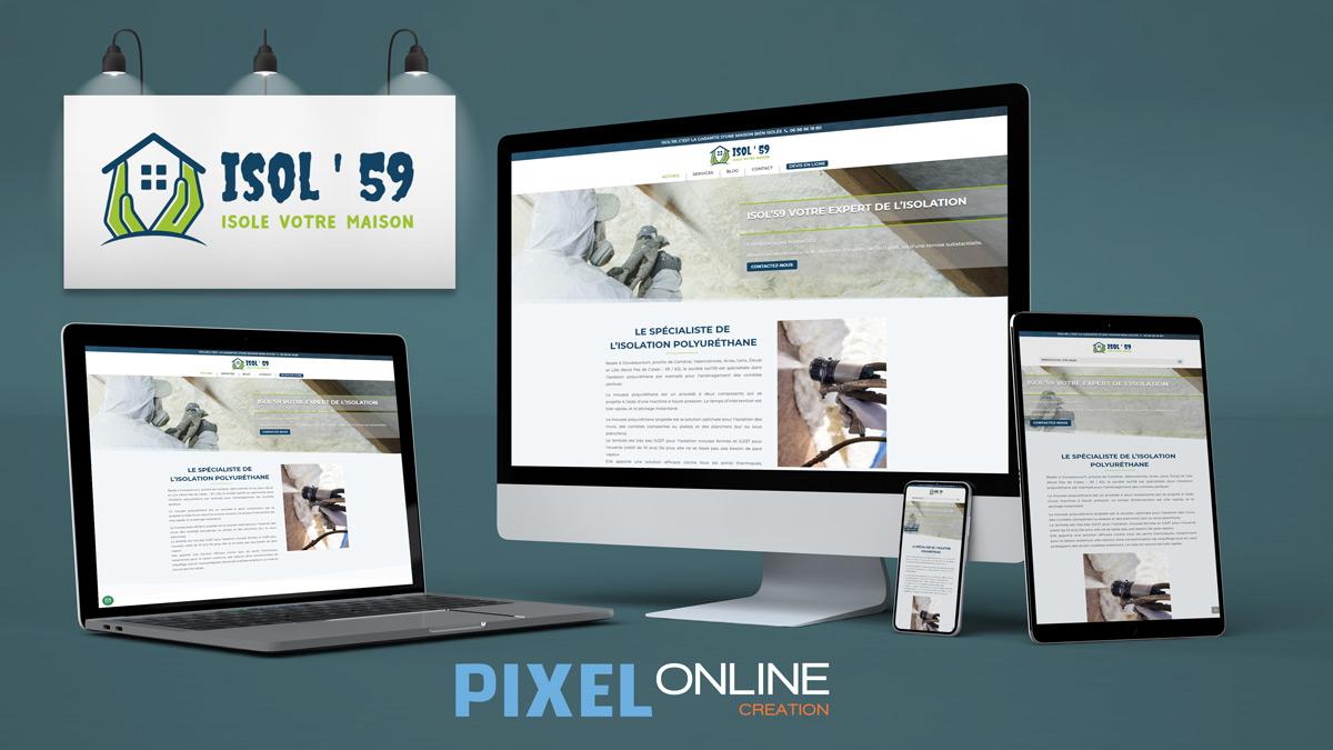 Refonte site Internet Artisan & développement sur-mesure – Isol59