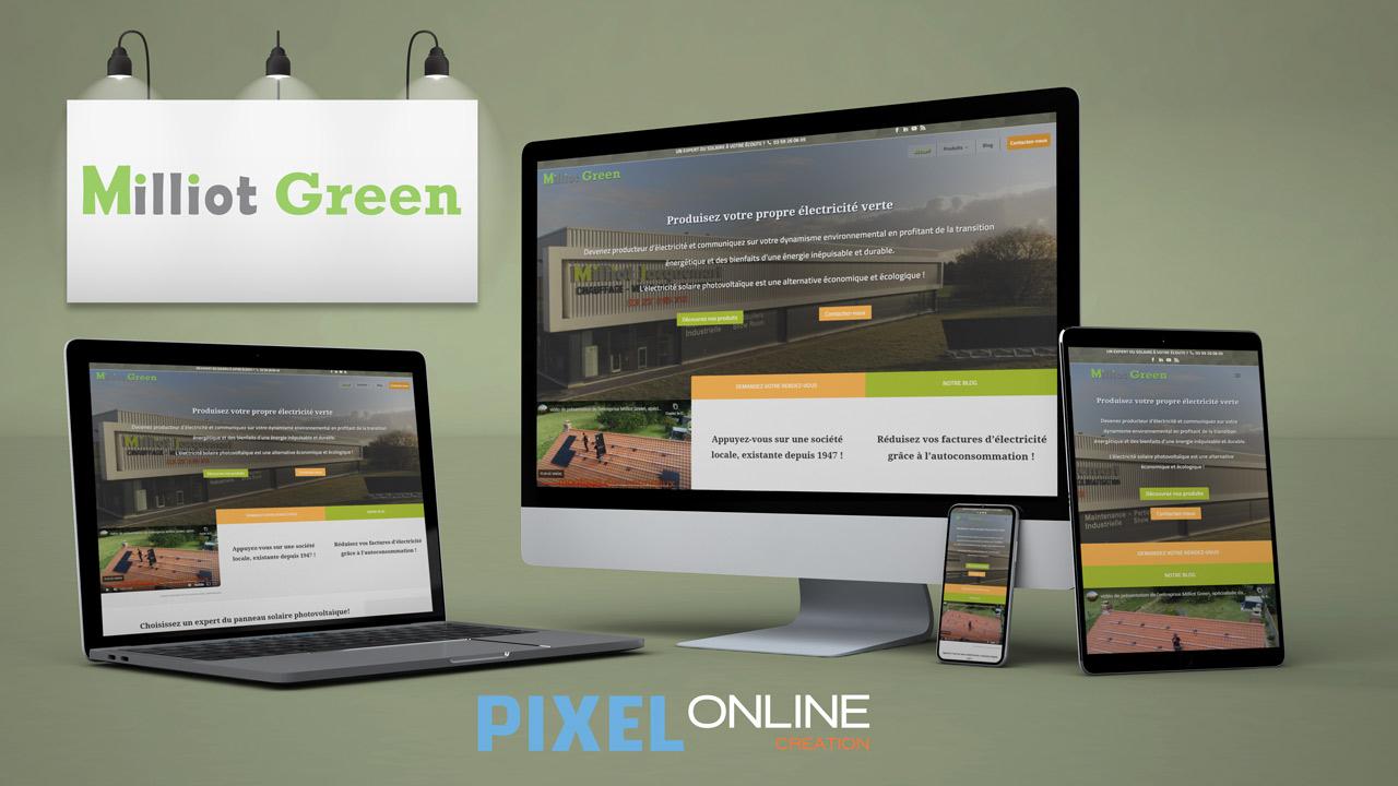 Création site Internet et blog professionnel – Milliot Green