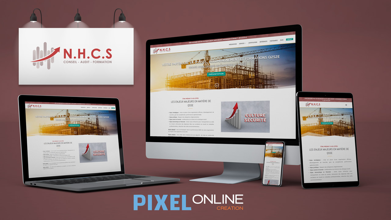Refonte site Internet vitrine, blog professionnel – NHCS
