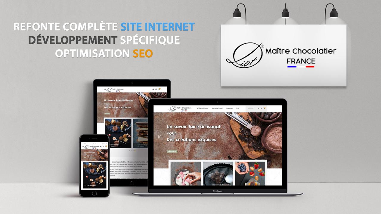 Refonte complète site Internet – Chocolaterie Diot
