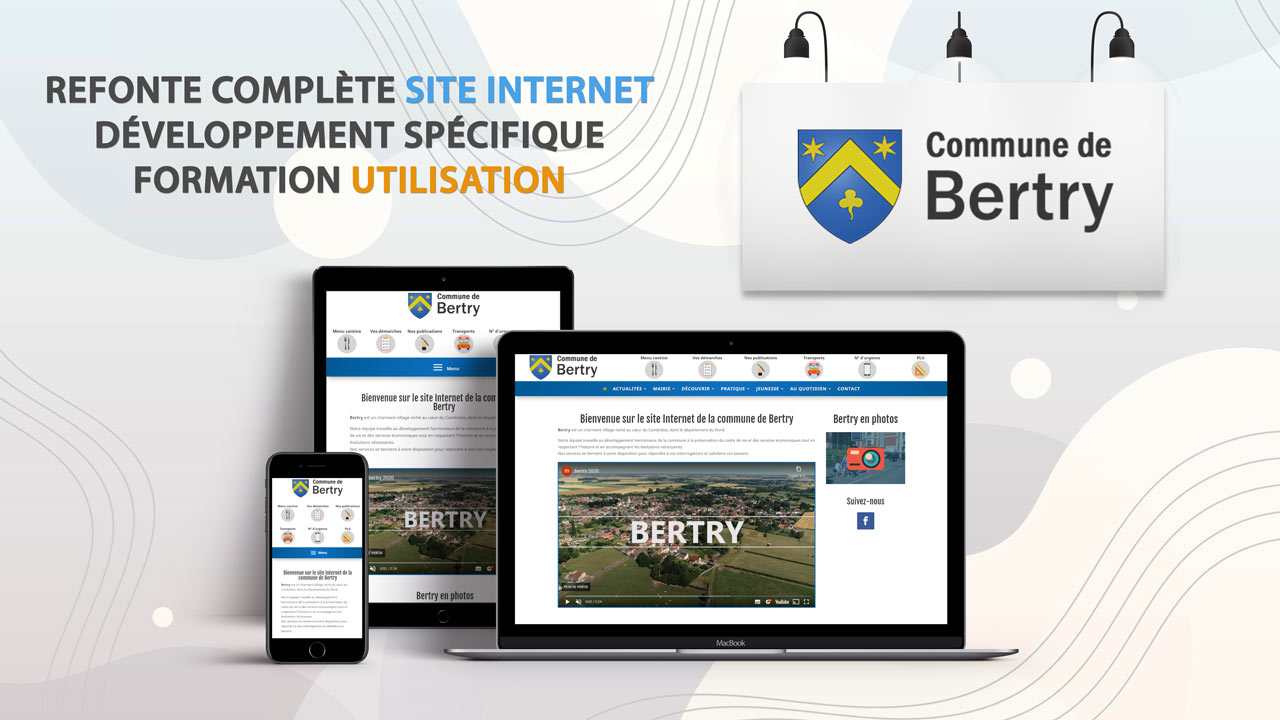Refonte site Internet et formation – Mairie de Bertry