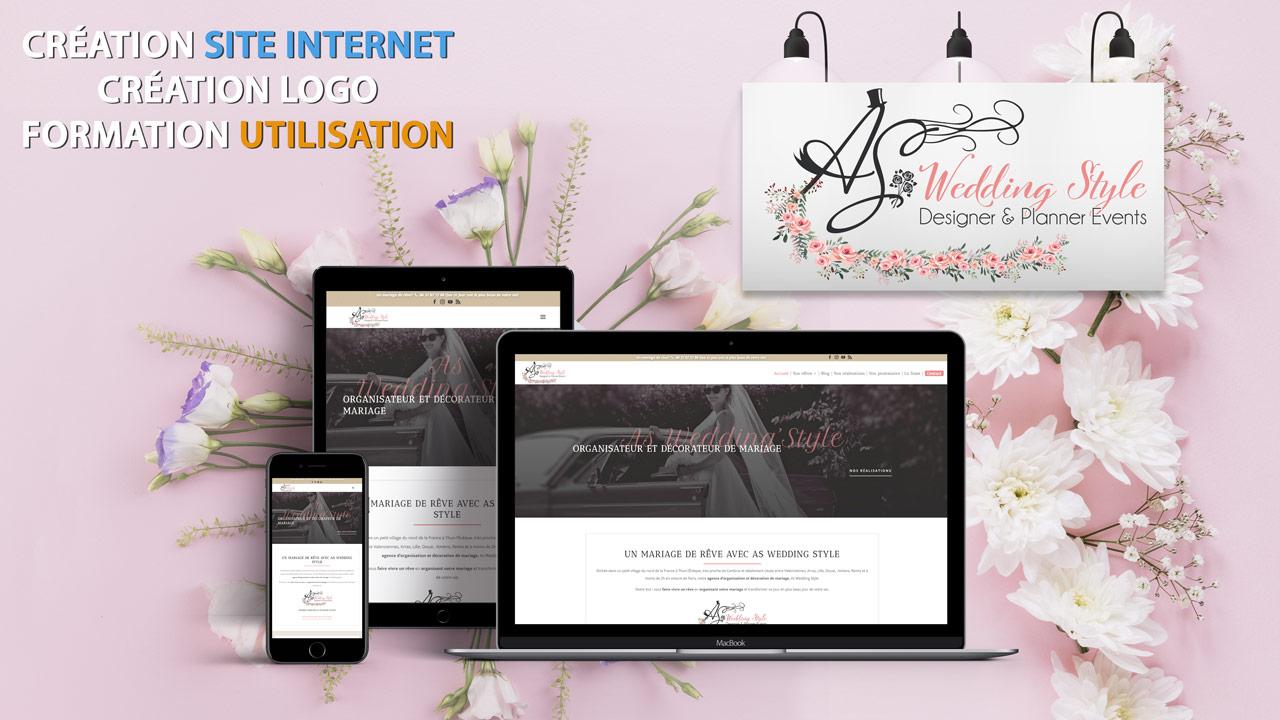 Création logo et site Internet – As Wedding Style