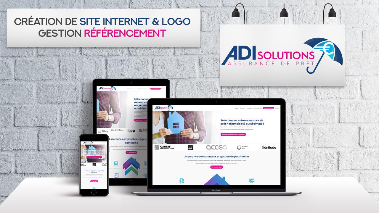 Création logo et site Internet – ADI Solutions